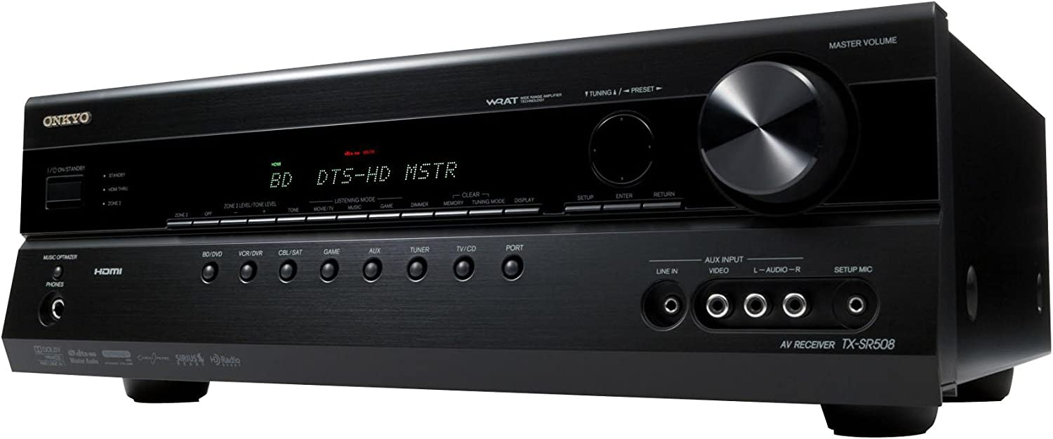 Amazon Com Onkyo Tx Sr508 7 1 Channel Home Theater Receiver Black Discontinued By Manufacturer Home Audio Theater