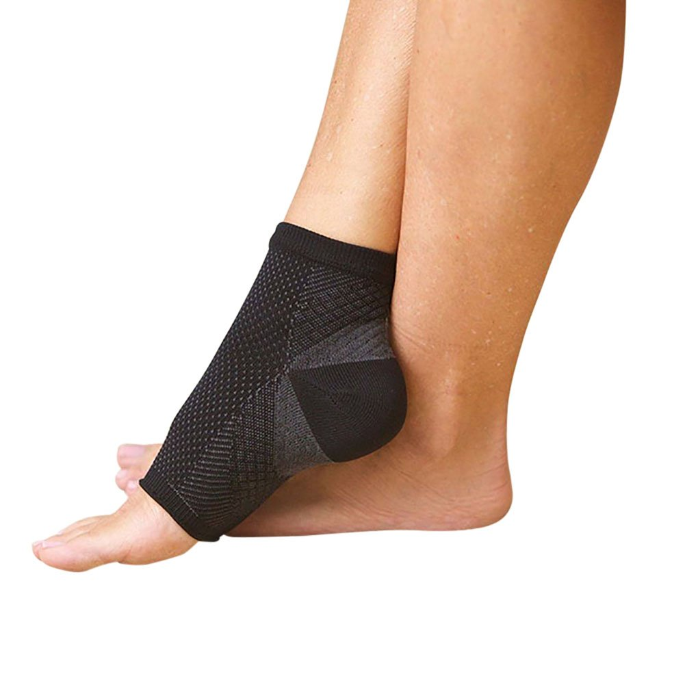 Hengzhi Mens Womens Sport Coppression Toeless Socks Protective Ankle Relief Pad