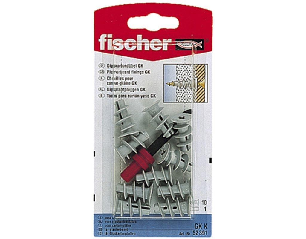Fischer 052391 K SB-Karte, Inhalt: 10 x Gipskartondü bel GK, 1 x Setzwerkzeug