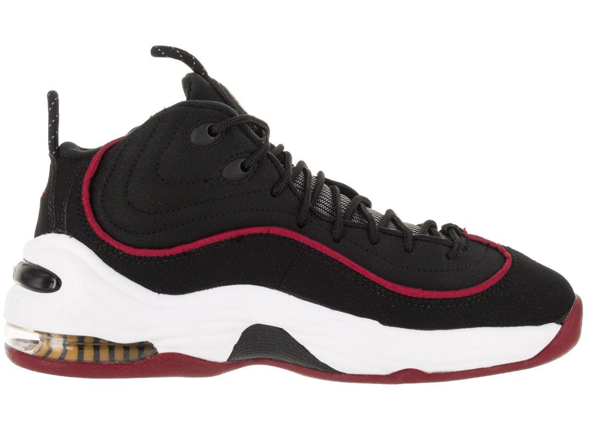 NIKE Kids Air Penny II (GS) Black/White/University Red Basketball Shoe 6