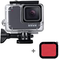 Waterproof Housing Shell for GoPro Hero 7 White/Silver, Leegoal 45M Diving Protective Housing Case with Red Filter and Bracket Accessories for Go Pro Hero 7 Action Camera