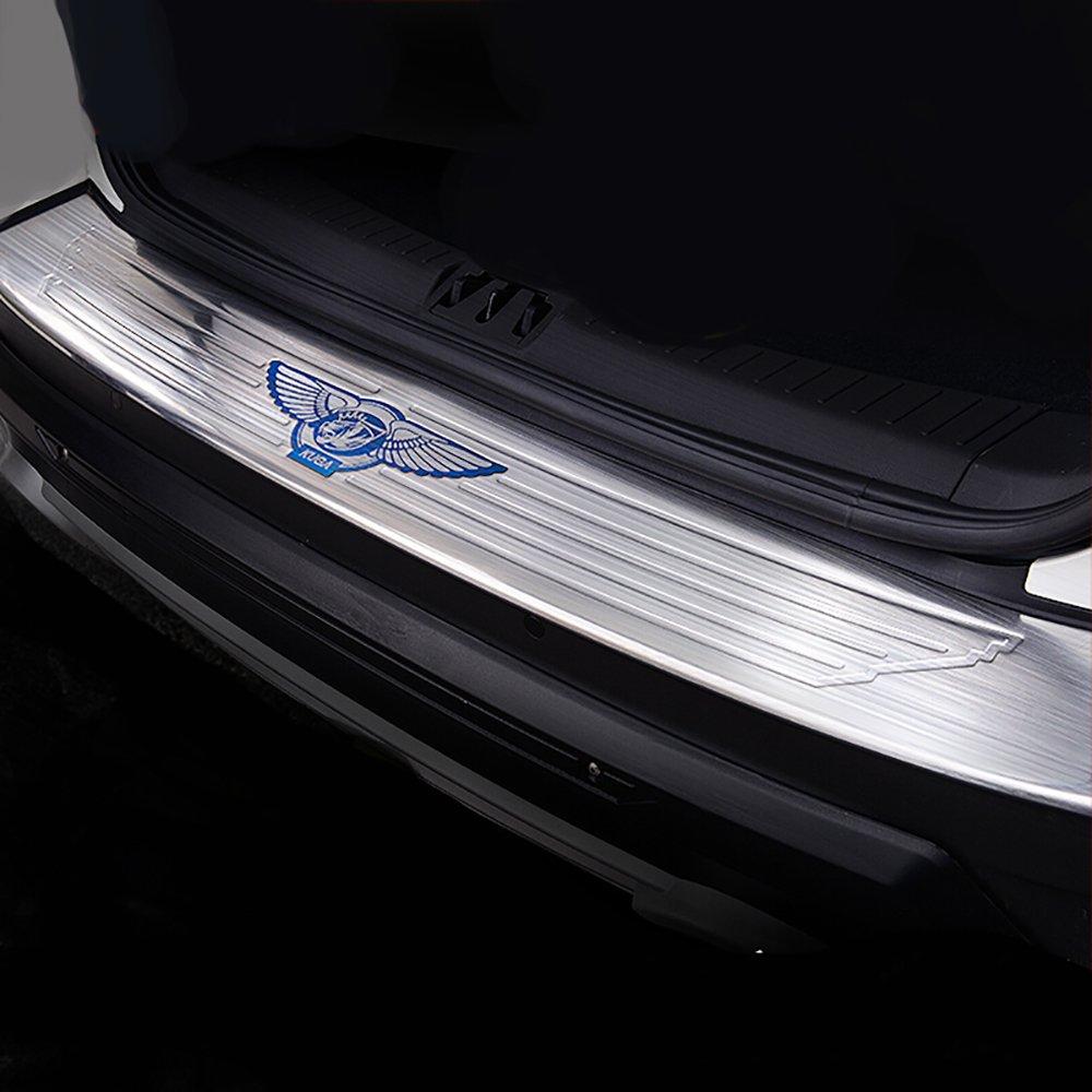 Behave Hhb0013/a arri/ère de voiture pare-chocs ext/érieur en acier inoxydable de seuil de porte arri/ère protecteur Fit pour Ford Kuga 2013/2014/2015,1/pcs Coffre arri/ère Bumper Coque de protection
