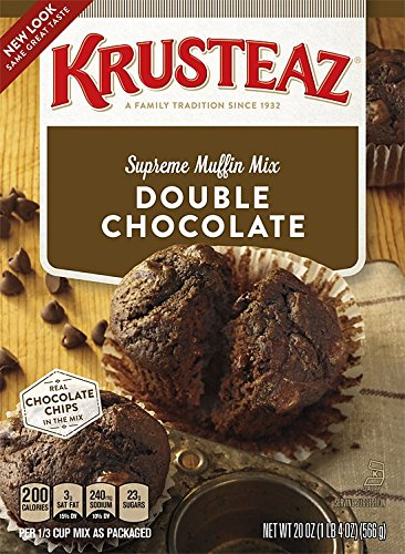 Krusteaz Double Chocolate Supreme Muffin Mix 20 oz (Pack of 2) by Krusteaz