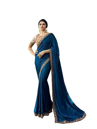 Women's Clothing Blue Bollywood Saree Party Ethnic Wedding Indian Designer Sari Blouse Other Women's Clothing