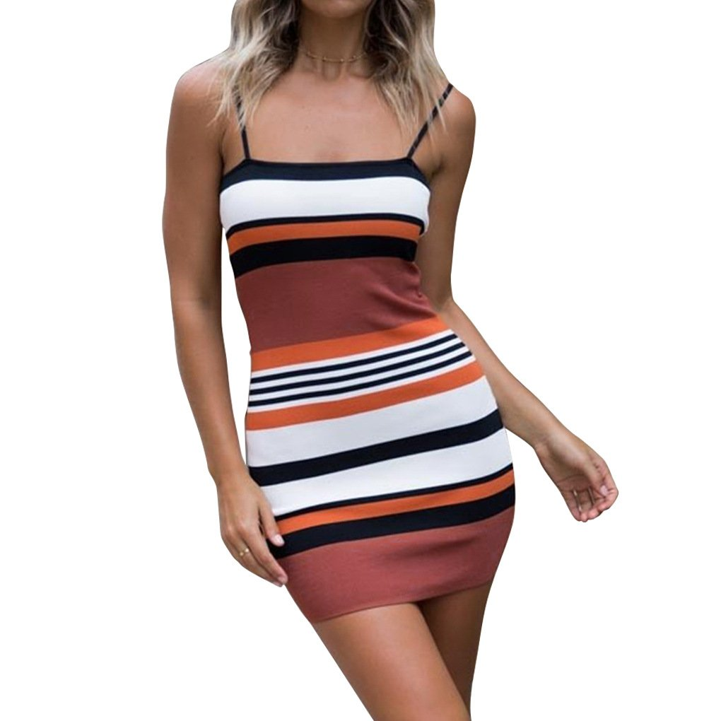 427f0e870c Sling & Stripe printed style summer dresses for women; Made from Cotton &  Polyester, elastic fabric will perfectly ...