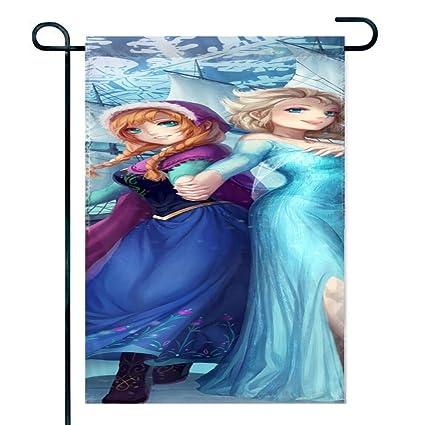 Amazon.com: DISNEY COLLECTION Garden Flag 12X18 Inch Frozen ...