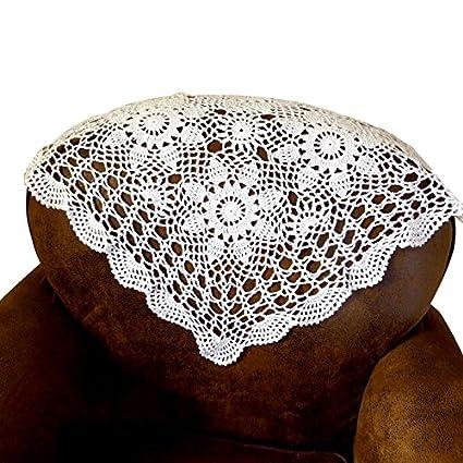 Amazon com: QEES Handmade Crochet Doilies Cotton Lace Square Table