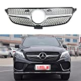 Fit for Mercedes Benz GLE W166 2016-2017 New Front Grille Insert Grill Vent Bar - Silver