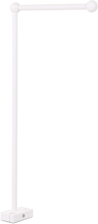 Taglia Unica Babybay Supporto Mobile con Barre Rotonde Verniciato Bianco