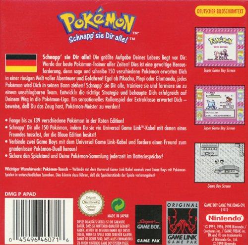 Pokemon Rot Karte.Pokémon Rote Edition Game Boy Amazon De Games
