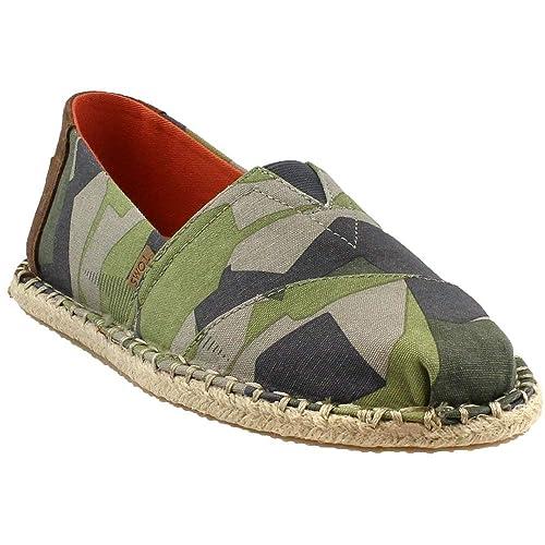 TOMS - Zapatillas de Textil, Cuero para Hombre Verde Verde: Amazon.es: Ropa y accesorios