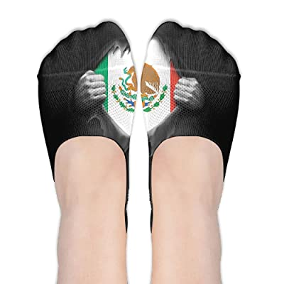 NBBDEII Mexico Flag Proud Mexican Comfortable Women No Show Low Cut Socks Arch Support