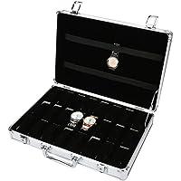 Uhrenhuette - Scatola porta orologi in lega di alluminio, 24 griglie