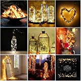 Christmas Lights 2m 20LEDs Warm White Fairy Lights Waterproof String Lights - Energy Efficient CR2032 Battery Operated For Indoor And Outdoor Use (2 Pcs)