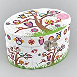 Childrens Musical Jewellery Box - Owls Design NEW Boxed Gift