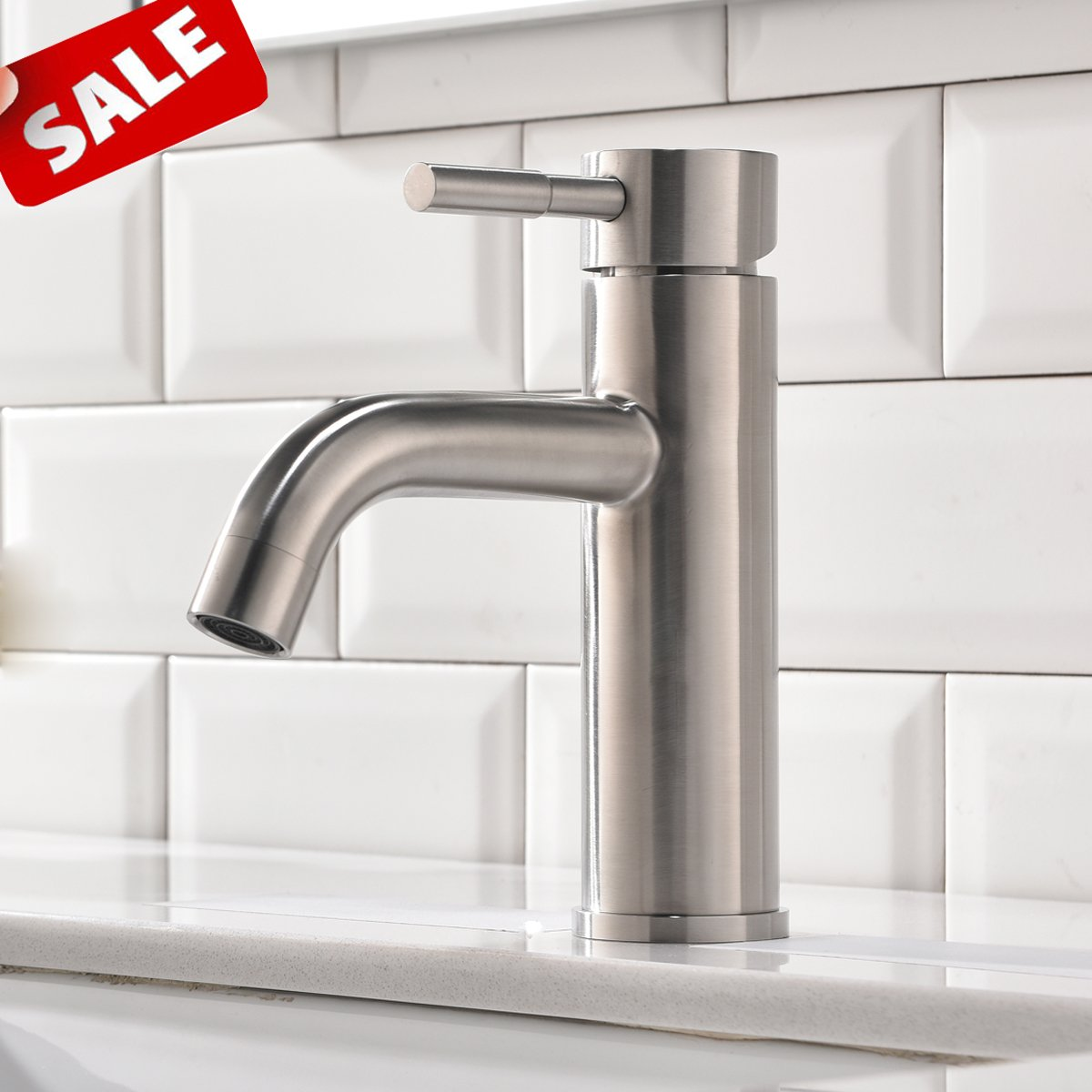 Excellent Details About Shaco Commercial Stainless Steel Vanity Single Handle Bathroom Faucet Brushed Download Free Architecture Designs Scobabritishbridgeorg