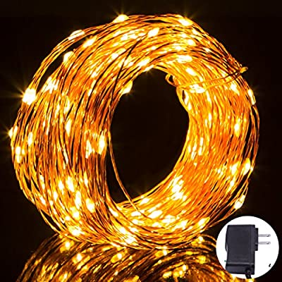 String Lights,Bienna [Plug in] [Waterproof] 200 LED 66ft/20M Copper Wire Starry Fairy Lighting for Bedroom Indoor Outdoor Patio Garden Yard Home Wedding Christmas Xmas Holiday Halloween Party