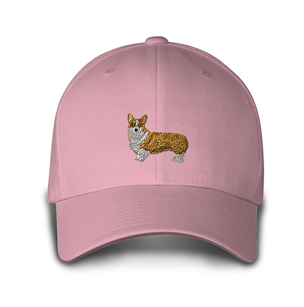 Amazon.com  Pembroke Welsh Corgi Embroidery Adjustable Structured Baseball  Hat Soft Pink  Clothing 8dca60dac310