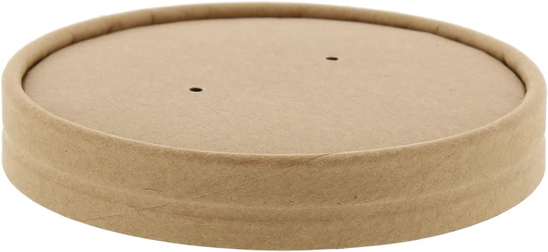 Royal 32 Ounce Kraft Vented Paper Food Container Lids, Package of 25