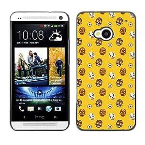 ZECASE Funda Carcasa Tapa Case Cover Para HTC One M7 No.0001727