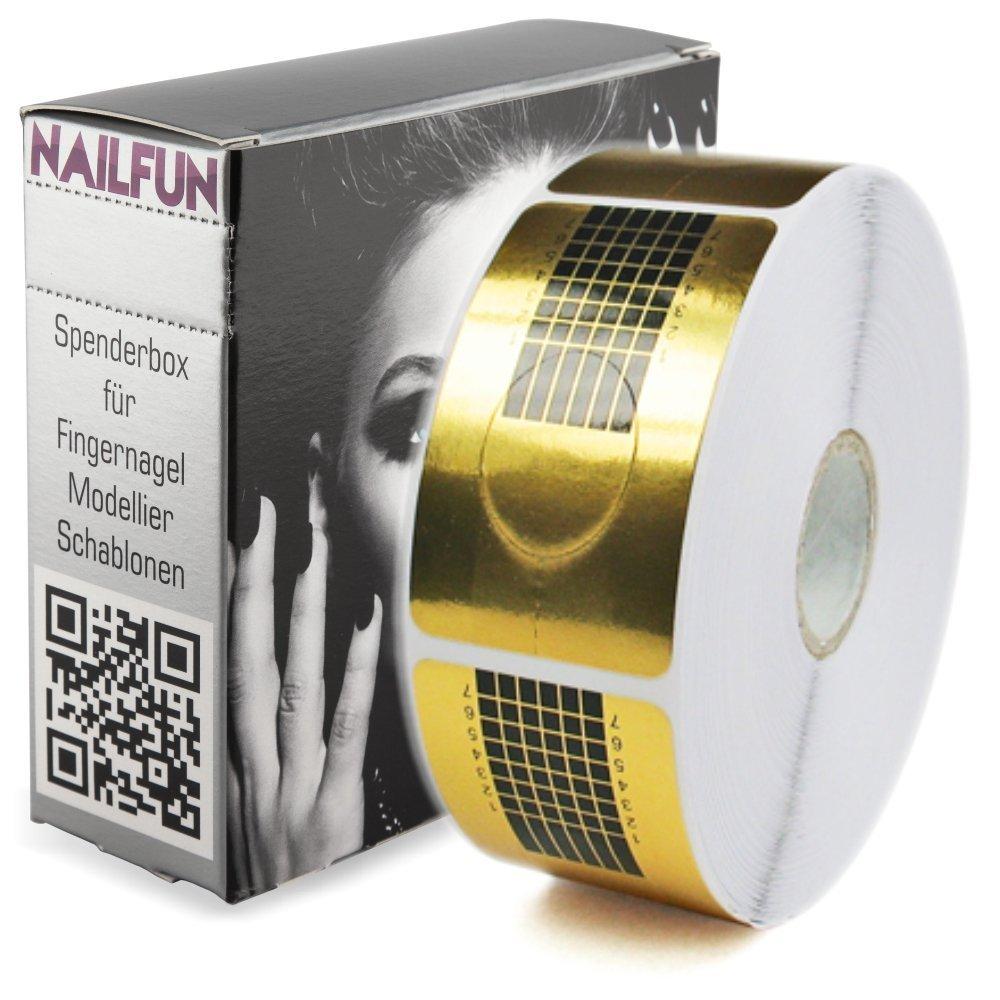 NAILFUN 1 Rollo de 500 Moldes para Escultura de Uñas - Color Oro NAILFUN ®