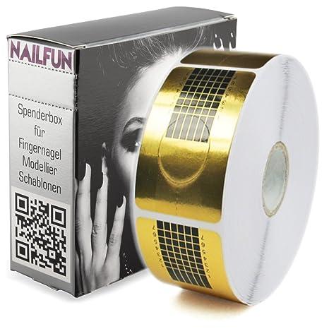 NAILFUN 1 Rollo de 500 Moldes para Escultura de Uñas - Color Oro