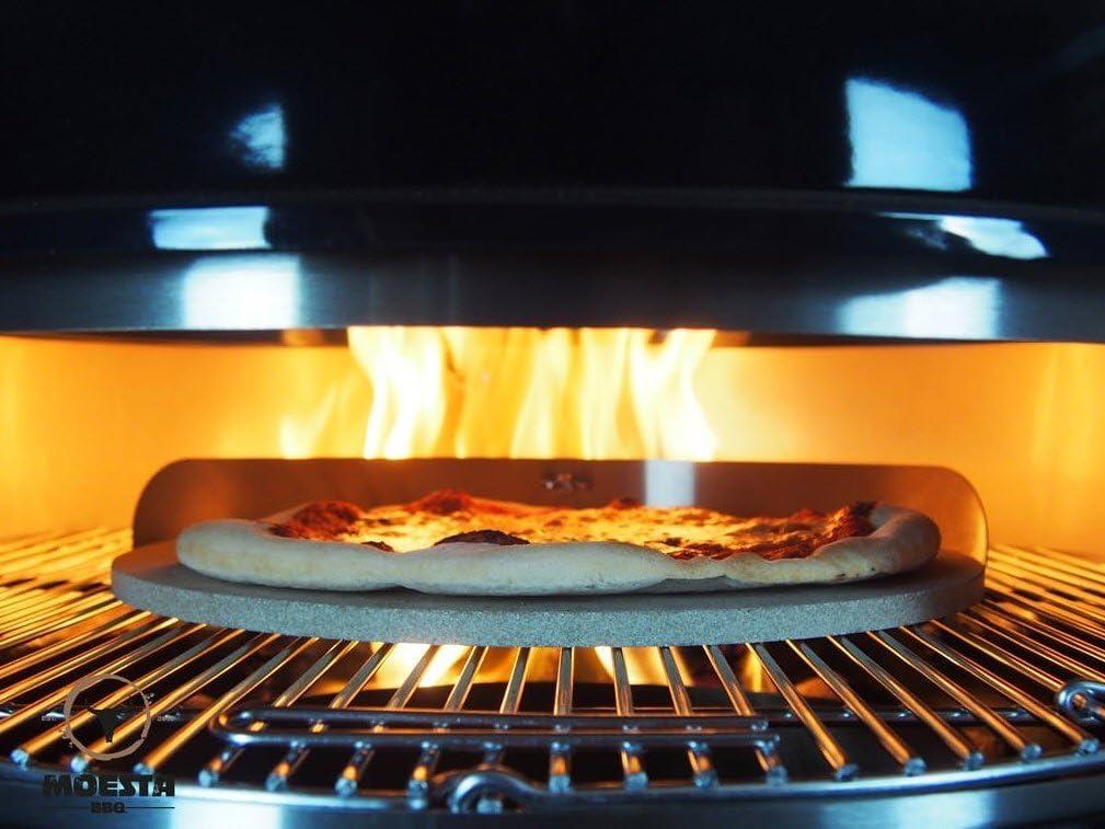 Moesta-BBQ 10060 Smokin PizzaRing Perfekte Pizza vom Kugelgrill F/ür Grills mit 47cm