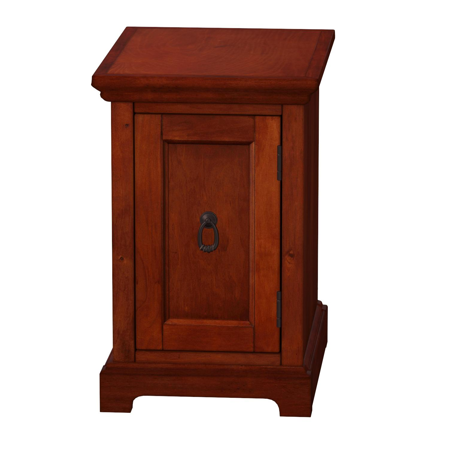Amazon.com: Leick Furniture Westwood Cherry Storage End Table ...