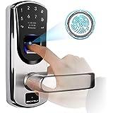 Ardwolf A60 Biometric Door Lock, with Right-Handle, Keyless Entry Fingerprint Lock, Electronic Keypad Smart Lock with Keys fo