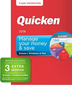 Quicken Deluxe 2018 – 27-Month Personal Finance & Budgeting Software [PC/Mac Box] – Amazon Exclusive [Old Version]