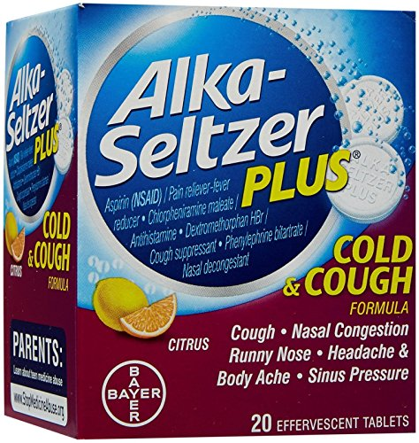 Alka-Seltzer Plus Alka-Seltzer Plus Cold & Cough Effervescent-20 ct