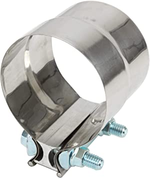 Preformed Aluminized Steel for 5 OD to 5 ID Exhaust Pipe Connection Roadformer 5 Lap Joint Exhaust Band Clamp