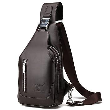 Rullar Herren Sling Bag Brusttasche Umhängetasche Brustbeutel Wasserresistent Kuriertasche Rucksack Schultaschen Tragetasche Sporttasche Wandern