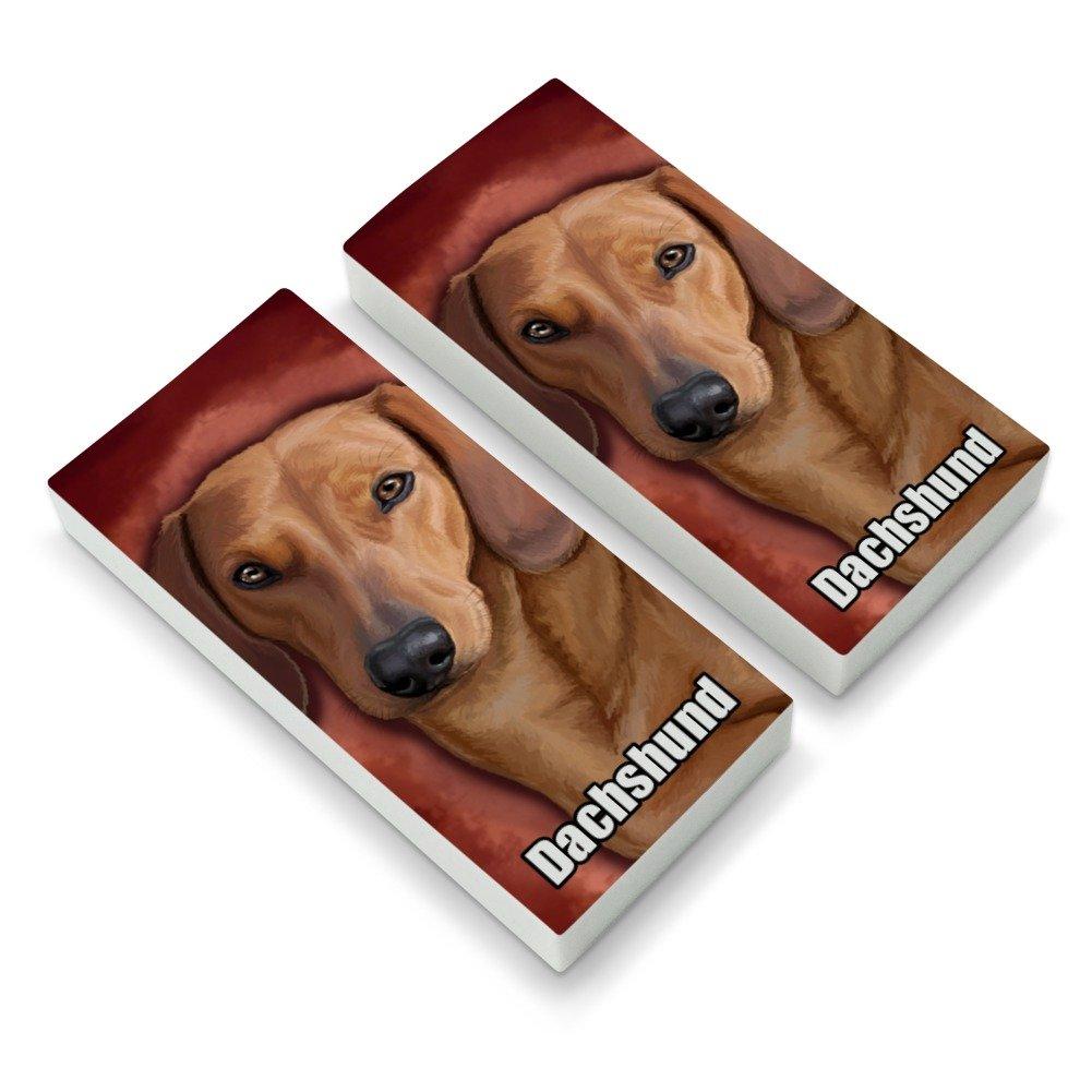Dachshund Wiener Dog Pet Eraser Set of 2 GRAPHICS & MORE