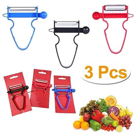 Magic Trio Peelers Set of 3 New Fruit /& Vegetable Kitchen Start.. Free Shipping