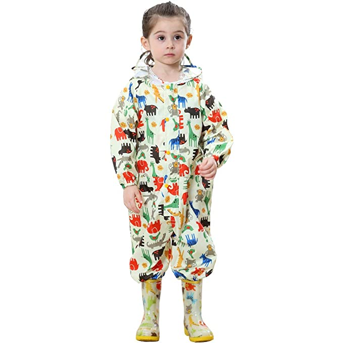 Zilee Niños Traje de Lluvia Chubasquero Niña Traje de Lluvia para Niños Impermeable Pantalones Chubasquero Poncho,Deportes,Cámping,Viajes,Al Aire ...