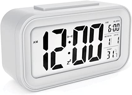 Details about  /Compact Digital Day Alarm Clock Electronic Clock Snooze Max//Min Records