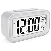 Naughty Monkey INC Alarm Clock Large LED Display Digital Alarm Snooze Light Activated Night Light Features