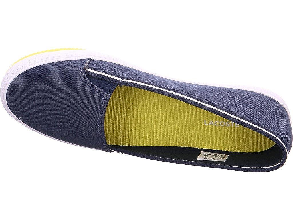Lacoste 733caw1043003 - Mocasines para mujer, color azul, talla 38 EU: Amazon.es: Zapatos y complementos
