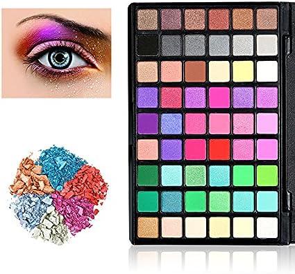 Paleta de Colores para Ojos, KRABICE 54 Sombras de Ojos mate ahumado pigmento Glitter Shimmer Maquillaje Paleta de sombra de ojos cosmética de alta calidad ojos paleta de colores - #2: Amazon.es: Belleza