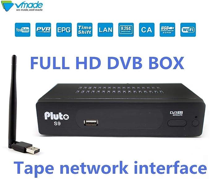 Vmade Sat - Receptor de satélite Digital (Wi-Fi, HDTV, EMAC, DVB-S2, HDMI, 2 USB, Full HD 1080p, Youtube, Cccam, IPTV, Newcam, etc.): Amazon.es: Electrónica