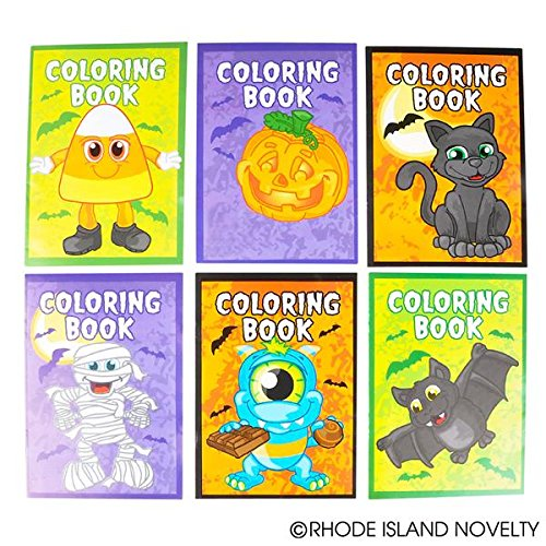 Halloween Coloring Books Pack of 12 -