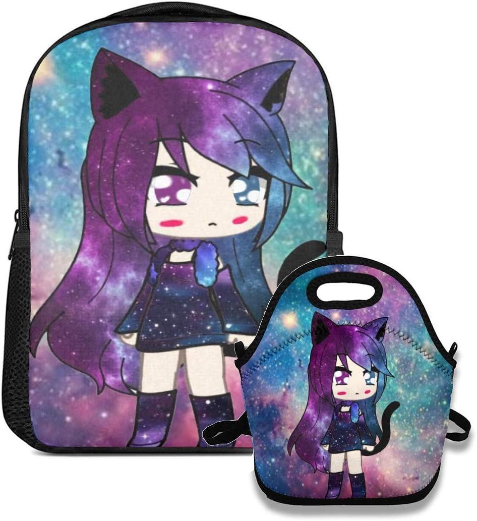 Gacha Life Backpack Set For Boys/Girls/Teen Gift Travel Daypack