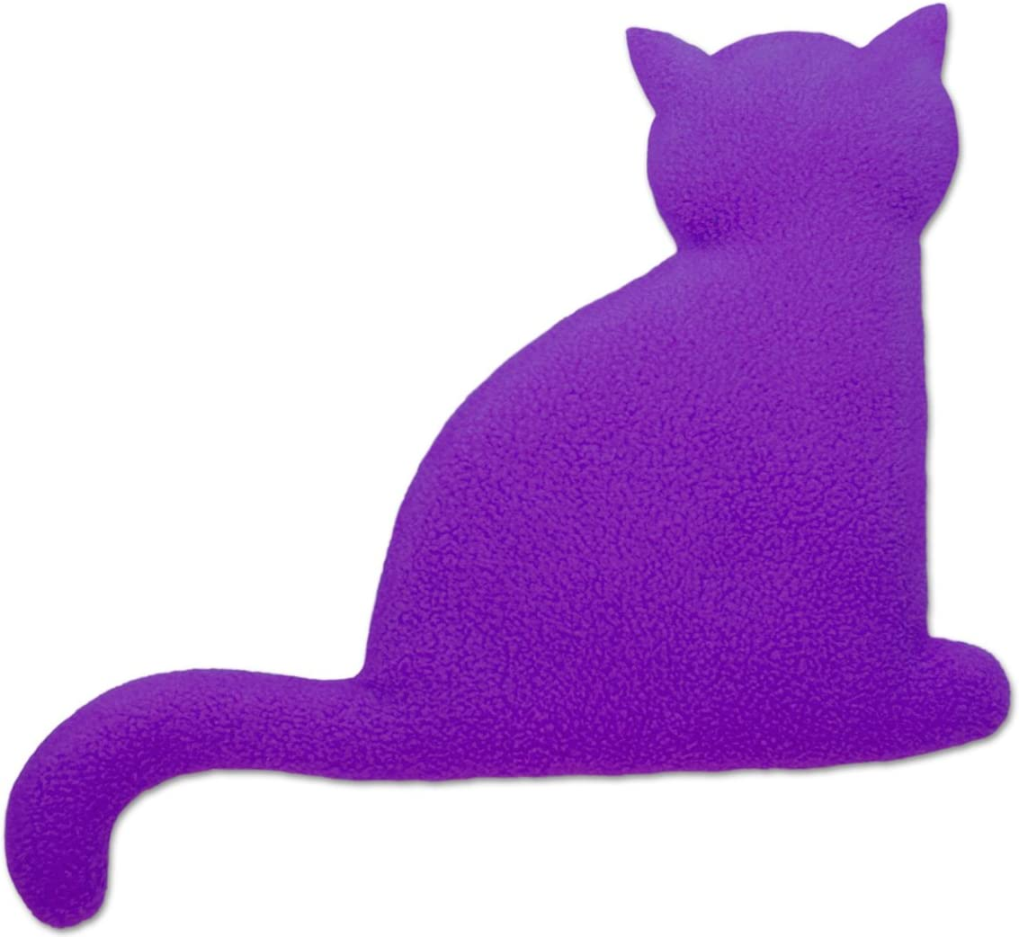 Minina the cat Colour: Purple // Midnight standing Leschi Warming pillow small for babies   36478