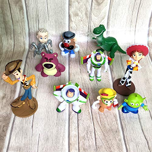 Full Collection Figure of Toy Story: Sheriff Woody,Buzz Lightyear,Jessie,Lotso,Hamm,Rex,Slinky Dog,Mr.Potato Head Doll Action Figures Play Set (10 Set) -