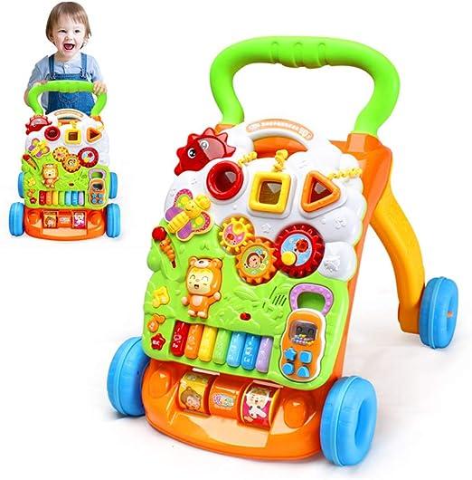 YQZ Andador Bebe Primeros Pasos, 3 en 1 Baby Sit-to-Stand Walker ...