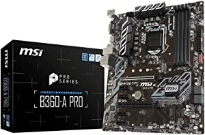 MSI Model B360APRO Intel Chipset Socket H4 LGA-1151 B360-A PRO Desktop Motherboard