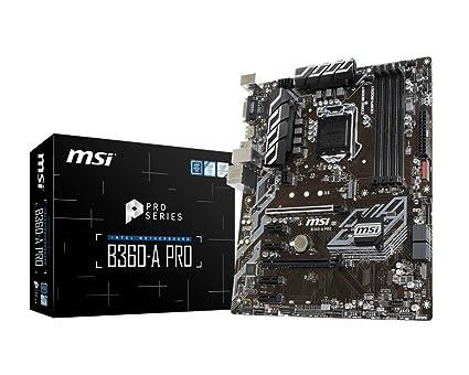 1f6aa174c MSI B360-A PRO ATX Intel Coffee Lake LGA 1151 Motherboard  Amazon.ca ...