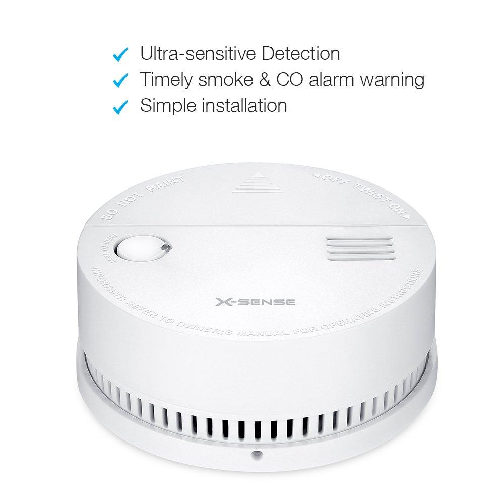 /À piles X-Sense DS51 D/étecteur combin/é de monoxyde de carbone et de fum/ée