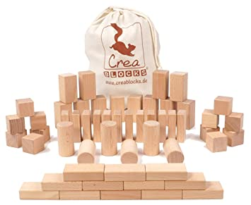 Natur Holz Rock Holzsteine Holzbausteine Stapelspiel Spiel Spielzeug